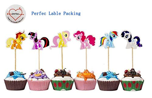 My Little Pony Cupcake Toppers Party Pack for 24 Cupcakes -