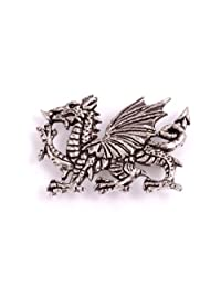 St Justin, Pewter Welsh Dragon Brooch