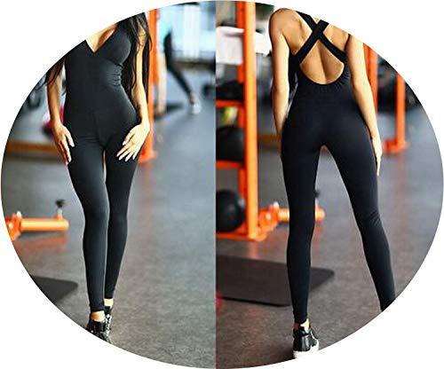 - love enjoy Women Tracksuit Yoga Set Backless Gym Running Set Sportswear Leggings Sports Clothing,CJ07401,S