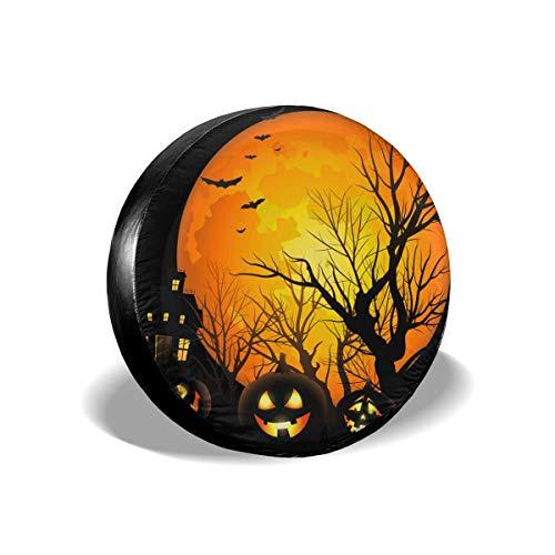 Feim-AO Halloween Moon Night Pumpkins Spare Wheel Tire Cover 14