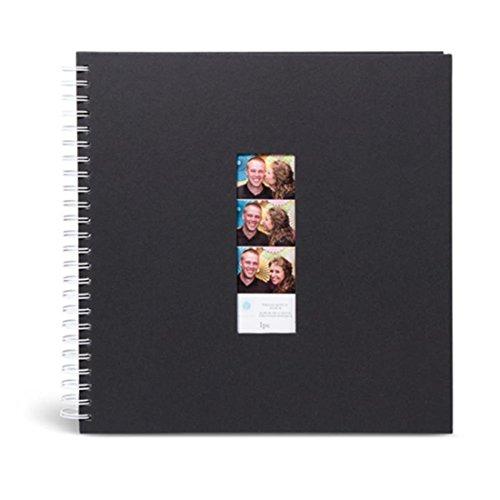 [해외]DARICE VLPB100 포토 부스 게스트 앨범 블랙 / DARICE VLPB100 Photo Booth Guest Album, Black