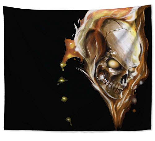 WholesaleSarong Skull Devil Halloween Wall Art Hanging Tapestry Room Decor Ideas House Decor ()