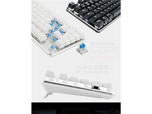Sunnyshinee Clásico Teclado retroiluminado para Juegos mecánicos Teclas estándar Teclado USB Vintage (Blanco) para computadora: Amazon.es: Electrónica