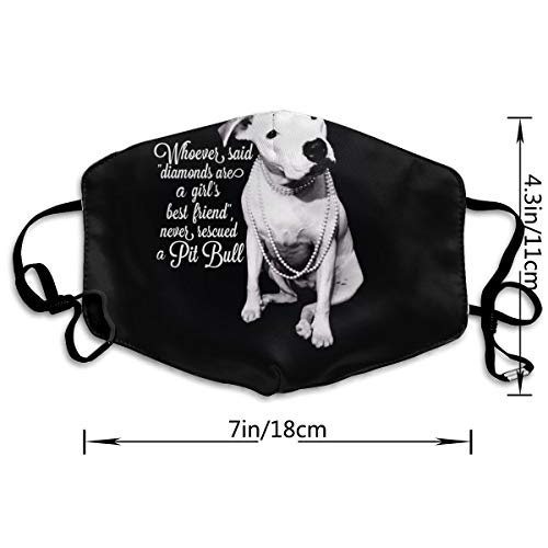 Pitbull And Girl Dog Anti Dust Mask Face Mouth Cover Reusable Washable Masks