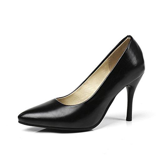 tamaño ligero zapatos singles código tacón femeninos black de con punta alto Fina vgOY7qg