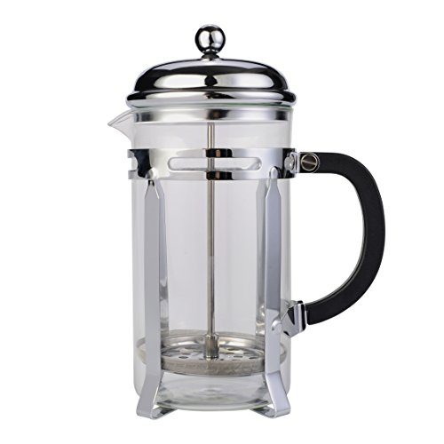 Stainless Steel French Press & Tea Makers 8 Cup (1 liter, 34 oz) -Best AOPERK Coffee Press Pot with 304 Grade (Black)AP315