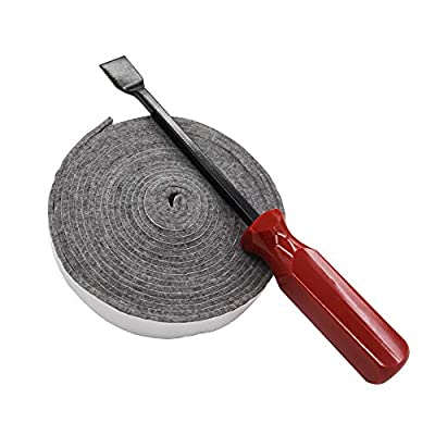 QQMASTER BBQ High Heat Felt Grill Replacement Gasket Kit and Grill Scraper from QQMASTER