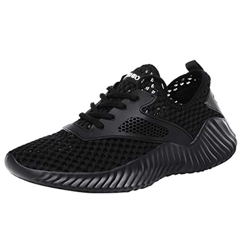 LUCAMORE Running Sports Shoes for Men and Women Breathable Mesh Fashion Casual Sneakers Black