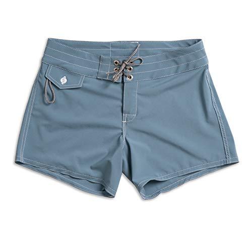 Birdwell Women's Stretch Board Shorts - Long Length (Light Blue, 10) by Birdwell Beach Britches (Image #5)