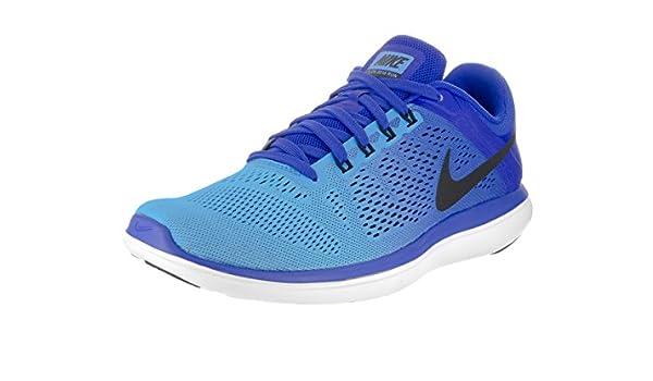 Nike Flex 2016 RN, Zapatillas de Running para Hombre, Azul (Racer Blue/Black-Blue Glow-White), 42 EU: Amazon.es: Zapatos y complementos