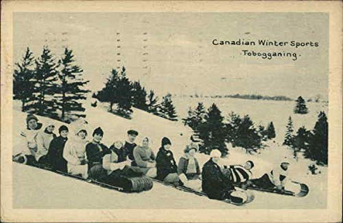 canadian Winter Sports - Tobogganing Other Sports Original Vintage Postcard from CardCow Vintage Postcards