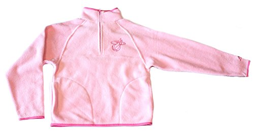 NBA Licensed Miami Heat Pink Quarter Zip YOUTH Fleece Pullover (Large 14)