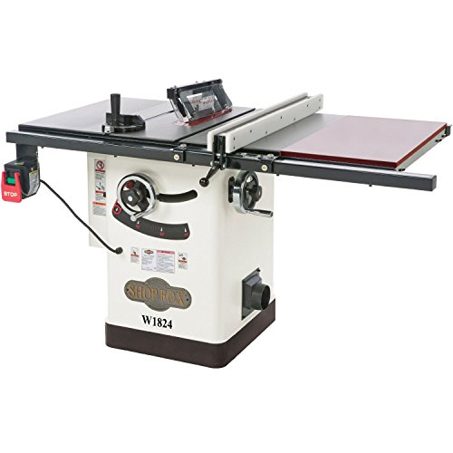Shop Fox W1824 Hybrid Table Saw with Extension Table - Oak Countertop Extension