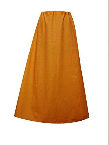 022 Cuciture In Sari Sottoveste Cotone Con Senape Un'unica Sottogonna Taglia Pronti Donna O Indian wqA7FF