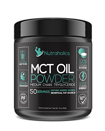 MCT Oil Powder from Organic Coconuts for Ketosis and Ketone Energy Supplement on Ketogenic Diet Easy to Absorb & Digest in Smoothies & Shakes or Keto Coffee Creamer by Nutraholics