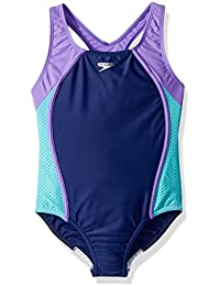 45c5038ef82 Girls Mesh Splice Thick Strap One Piece Swimsuit