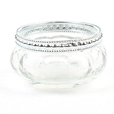 Koyal Wholesale Bloom Tea Light Holders, 6-Pack Petite Glass Tealight Cup, Vintage, Boho Wedding Tealight Cup