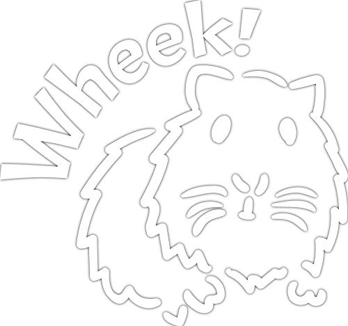 4 All Times Wheek Guinea Pig Automotive Car Decal for Cars, Trucks, Laptops (5.0