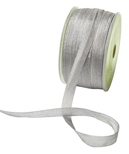 May Arts SK-4-31 Gray 1/4'' Silk Ribbon,Gray,54 yd by May Arts