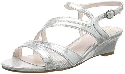 Noir Arriere Argenté Femme Sandales Silver Shimmer Bride Desponia Lotus tzwXqPx