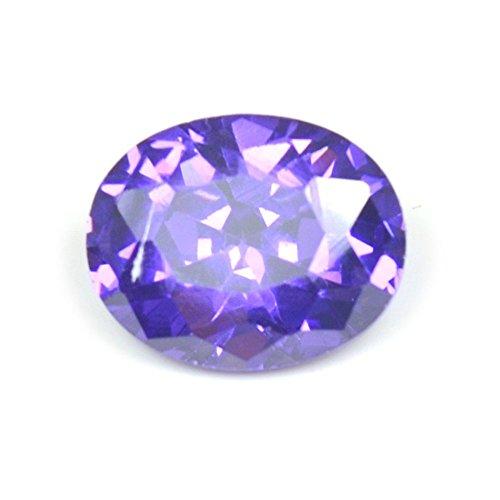 55carats oxyde de zircon Pierre 4,95carat ovale Pierre précieuse de courroie Violet foncé