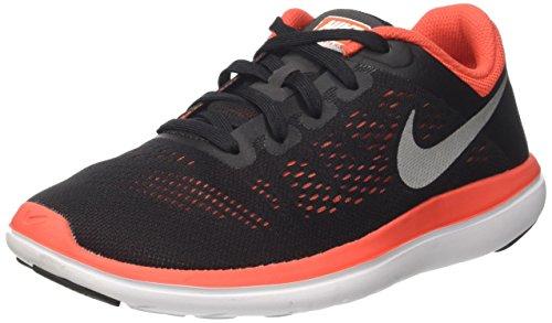 Nike Flex 2016 Rn Gs, Sneakers Unisex Niños Negro (Black/mtlc Silver/max Orange/orchid/white)