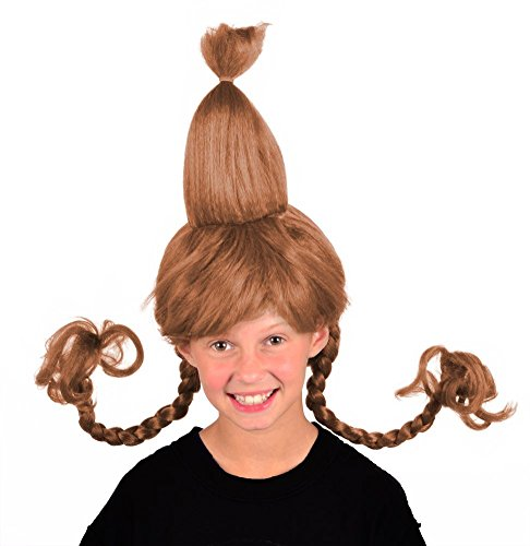 My Costume Wigs Cindy Lou Who (Light Brown) One Size Fits All (Grinch Halloween Costume)