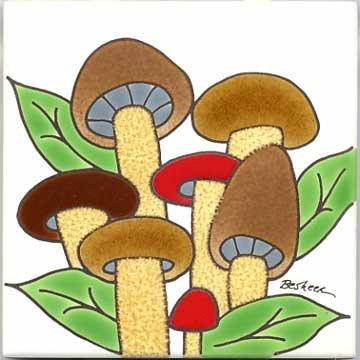 FRUITS-VEGETBLES-TRIVETS-WALL PLAQUES-MUSHROOMS TILE ()