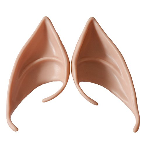 Price comparison product image Probeauty Anime Manga Elf Hobbit Ears Tips Costume - Latex Painted Light (#2)