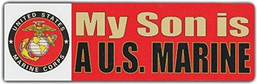 Bumper Stickers: MY SON IS A US MARINE | USMC US Marine Corp Semper Fi