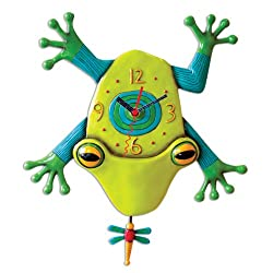 Allen Designs Big Croak frog clock