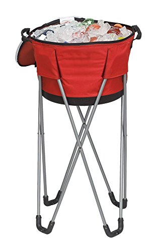 Travelwell Collapsible Barrel Cooler with Stand, Red by Travelwell