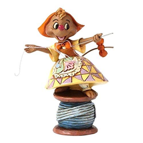 "Disney Traditions by Jim Shore ""Cinderella"" Suzy on Spool of Thread Stone Resin Figurine, 4"""