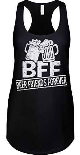 Blittzen Womens Tank Beer Friends Forever, S, Black