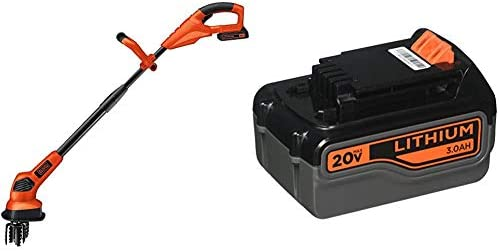 BLACK DECKER 20V Cordless Garden Cultivator Tiller with Extra Lithium Battery 3.0 Amp Hour LGC120 LB2X3020-OPE