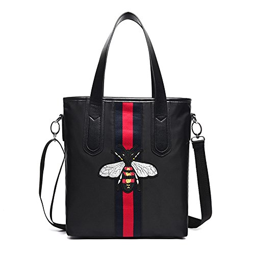 Bolsos, bolso de hombro de la manera, bolso de nylon del paño de Oxford, bolso de la lona, bolso grande de la momia ( Color : Purple ) Negro