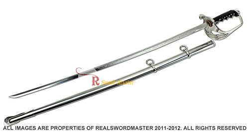 Swordmaster - Military Ceremonial Sword U.S. Army Officer Saber New Design Acid Etching - Acid New