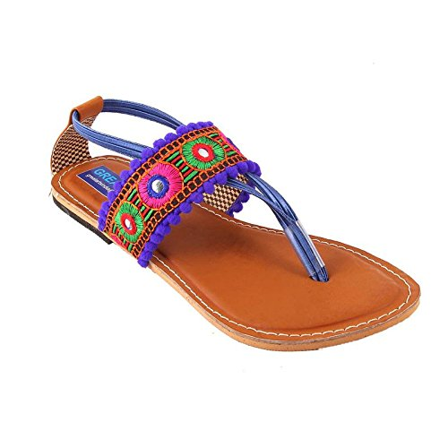 b41ed7f3e Rajasthani-Fashion Women s Synthetic Blue Sandals (4)  Buy Online at ...