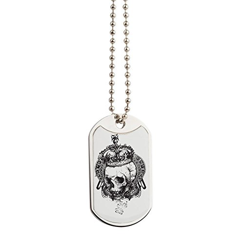 Royal Lion Dog Tags Dead King Skull Crown