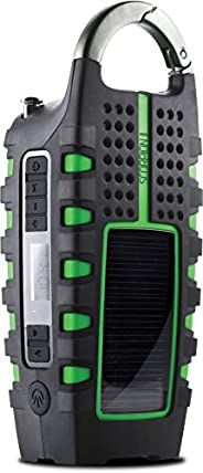 Eton Rugged Multipowered Portable Emergency Weather Radio & Flashlight, Green (NSP101W