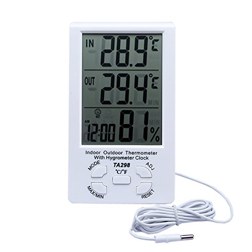HONGVILLE Digital LCD Thermometer Humidity Hygrometer for