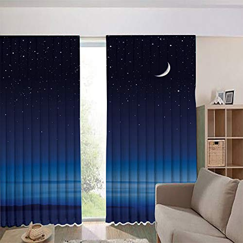 Traditional Sconce Pacific (iPrint Children's Room Curtains Thermal Insulated Blackout Curtain Window Curtains,Barbara Channel Infinity Foggy Pacific Ocean 108Wx63L Inch)