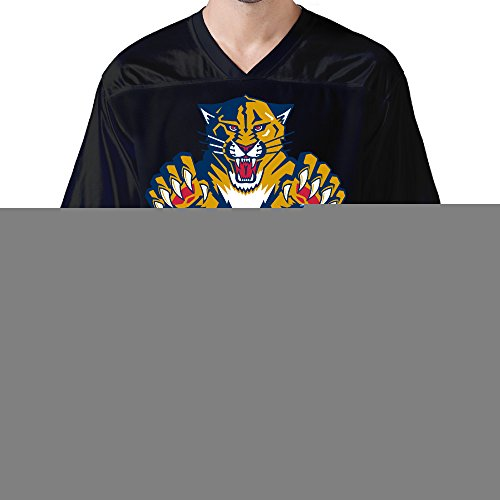 DonSir Roaring Panther Men Sports Team Uniform Football Jersey S Black (Luke Kirby Halloween)