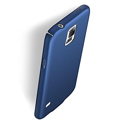 Funda Samsung Galaxy S5, Caso con [Protector de Pantalla de Cristal Templado] [Ultra-Delgado] [Ligera] Anti-Rasguño y Anti-Huellas Dactilares Totalmente Protectora Estuche de Plástico Duro -Rosa Azul Profundo