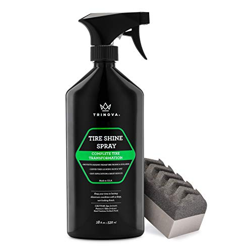 TriNova Tire Shine Spray No Wipe
