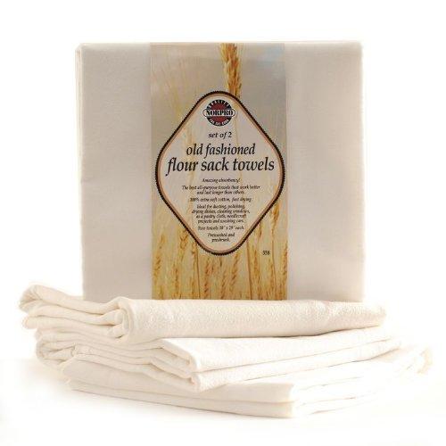 (Norpro 358 Flour Sack Towels, Off- Off-White)