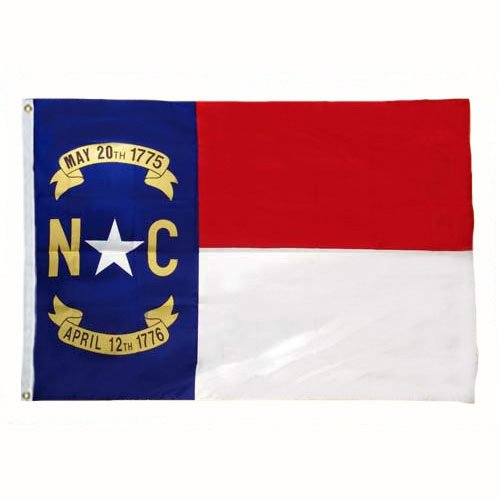 North Carolina Flag 3X5 Foot Nylon (Carolina Furniture Mart)