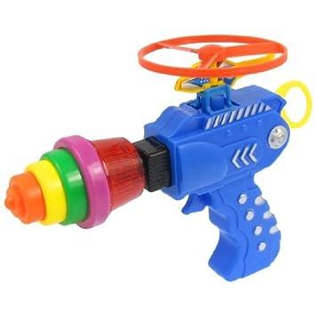 sodialr juguete de pistola peonza platillo plastico colorido para ninos