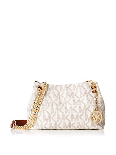 MICHAEL Michael Kors Jet Set Chain Item Medium Messenger - Kors White Gold And Michael