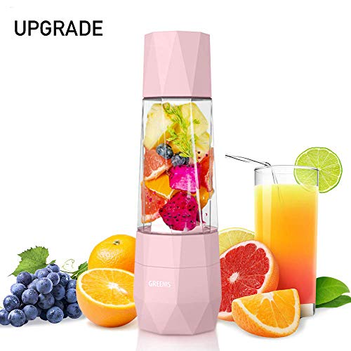 GREENIS Portable Personal Blender, Vacuum Oxidation Resistance Juicer, Smoothie And Shake Mixer Travel Outdoor Camping